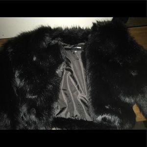 Fashion Nova black fur coat